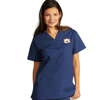 University of Auburn Unisex College Scrub Top 5450