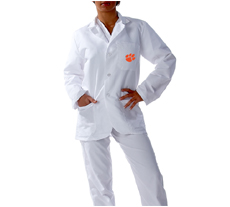Clemson University Short Labcoat