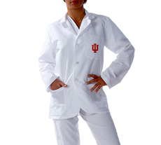 Indiana University Short Labcoat