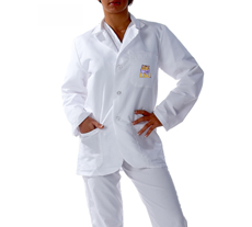 Louisiana State University Short Labcoat