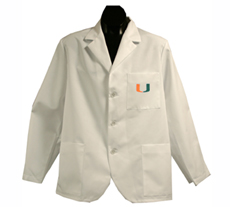 University of Miami Short Labcoat