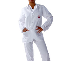 Mississippi State University Short Labcoat