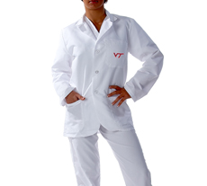 Virginia Tech University Short Labcoat